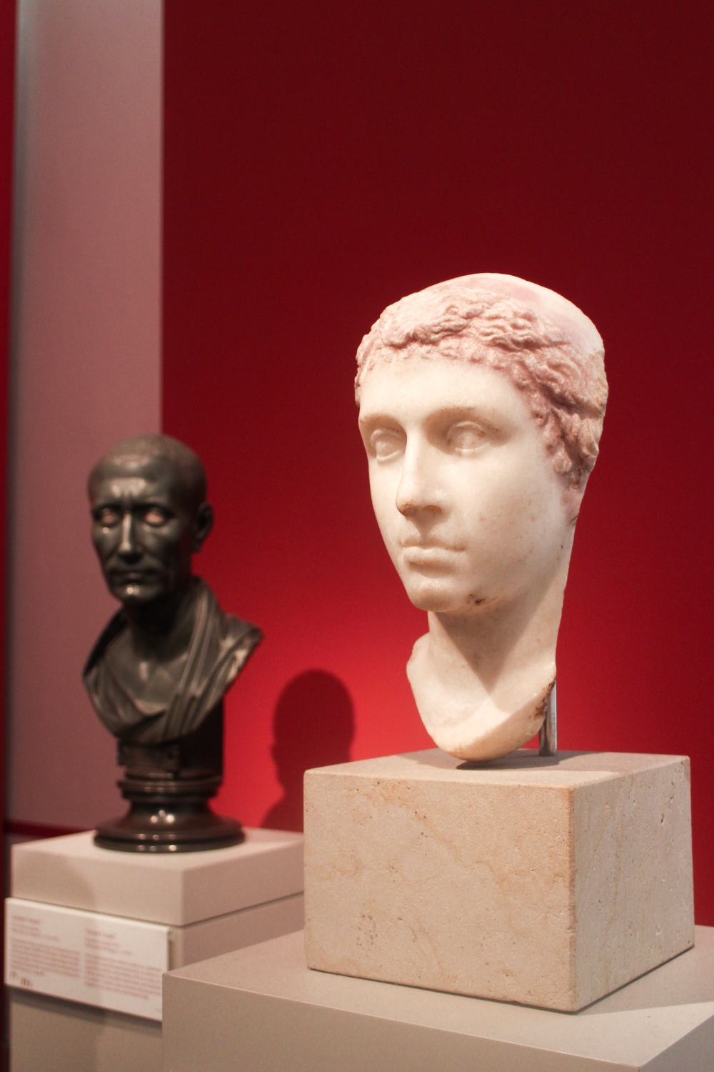 Bust portraits of Cleopatra and Julius Caesar.