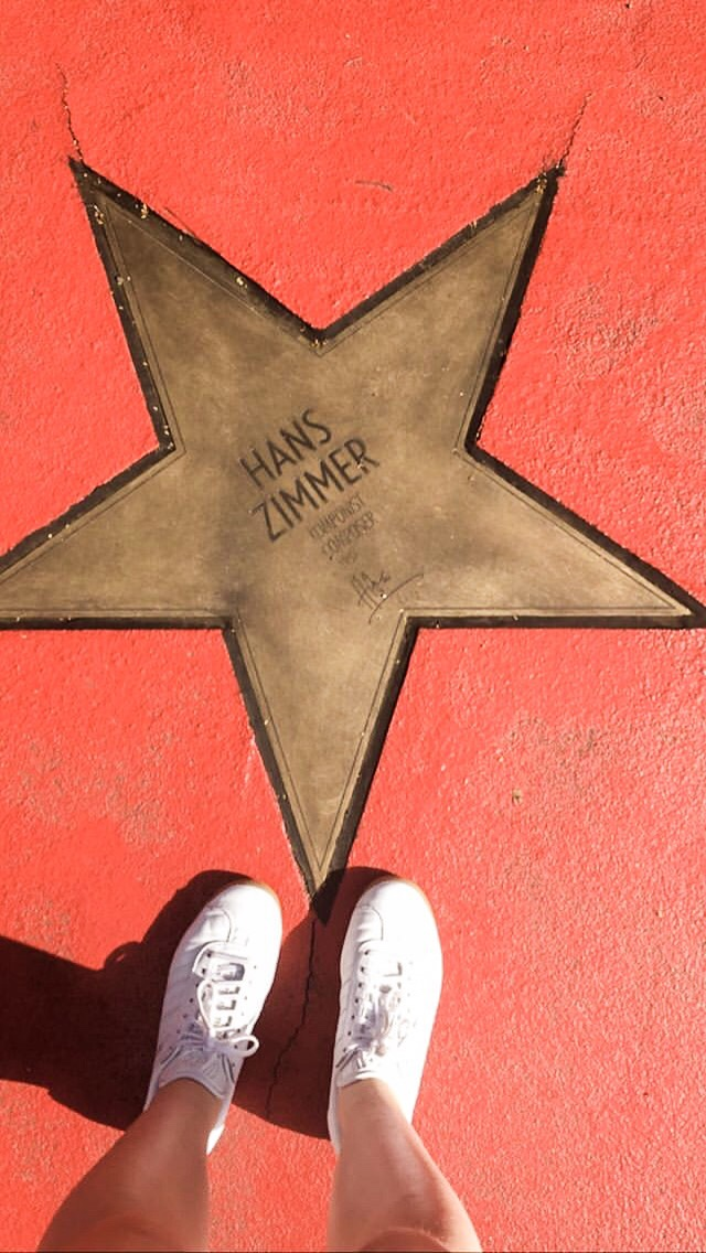 A gold star with Hans Zimmer's autograph on Berlin's red Boulevard der Stars